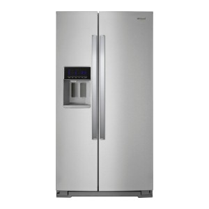 Whirlpool 28.4 Cu. Ft. Side-by-Side Refrigerator - Best Refrigerator with Ice Maker: Extra-large capacity