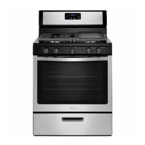 Whirlpool 5.1 cu. ft. Gas Range - Best Ranges for Kitchen: Easy to clean