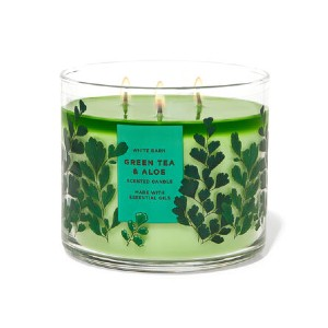 White Barn GREEN TEA & ALOE - Best Scented Candles for Bedroom: Fresh Scent