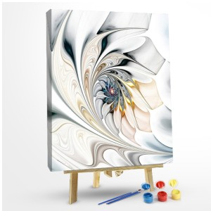 Paint by Numbers Kit White Floral Art - Best Paint by Number Kits for Seniors: A Dreamy Flower