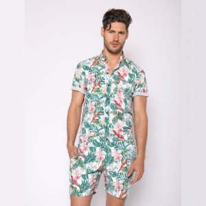 Romperjack White Jungle Romper - Best Men's Romper: Bring the tropical vibe