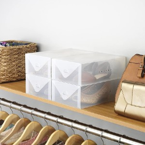 Whitmor Clear Vue Women's Shoe Box - Best Sneaker Storage Boxes: Box with Vent Holes