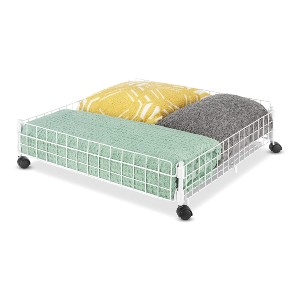 Whitmor Rolling White Wire Underbed Cart - Best Storage Containers for Clothes: Extension of your dresser drawers