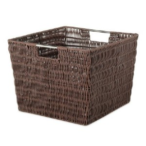 Whitmor Rattique® Storage Tote Basket - Best Storage Baskets: Rattan-Look Basket