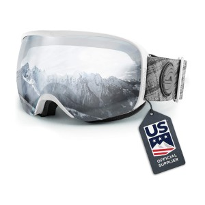 WildHorn Outfitters Cristo Ski Goggles - Best Ski Goggles for Kids: Wider View Goggle