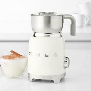 Williams Sonoma Home Smeg Milk Frother - Best Milk Frother for Oat Milk: Elegant Finish Milk Frother