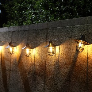 Williston Forge Outdoor LED Solar Powered - Best Outdoor Patio Lights: Classic Retro Light