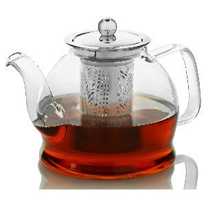 Willow & Everett Teapot with Infuser for Loose Tea - Best Teapot with Infuser: Classic Glass Teapot