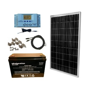 WindyNation 100 Watt Solar Panel  - Best Solar Panels for RV Battery Charging: Everything you need