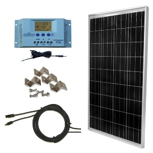 WindyNation 100 Watt Solar Panel Off-Grid  - Best Solar Panel for Residential Use: Compatible with any layout