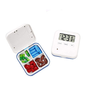 Winnes Automatic Pill Dispenser Electronic Medication Organizer - Best Pill Boxes with Alarm: Small Size and Lightweight