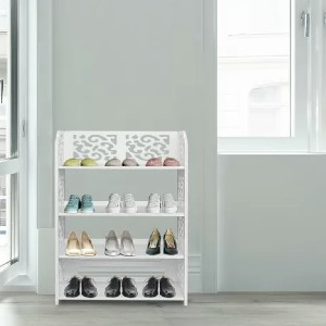 Winston Porter Home Organizer Standing Space Saving 12 Pair Shoe Rack - Best Shoe Racks for Small Spaces: High-Quality Wood-Plastic Board