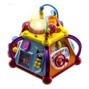 WolVolk Musical Activity Cube Play Center - Best Musical Toys for Babies: 15 activities in one product
