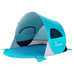 WolfWise Easy Pop Up 3-4 Person Beach Tent - Best Beach Tents for Wind: Pop-Up Design Tent