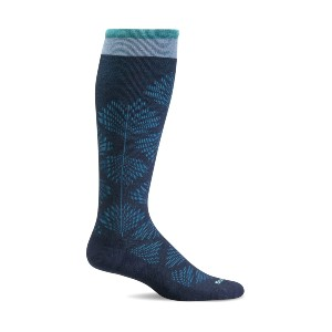 SockWell Women's Full Floral - Best Compression Socks for Edema: Ultra Light Cushion Sole
