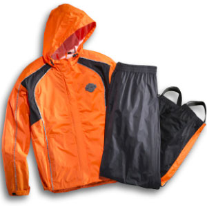Harley-Davidson Women's Hi-Vis Rain Suit - Best Raincoat for Motorcycle Riders: Cool Reflective Tape