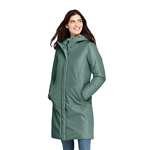 LAND'S END Waterproof Insulated Raincoat - Best Raincoats for Petites: Waterproof and Great Coverage