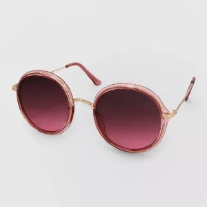 Wild Fable Round Metal Plastic Combo - Best Sunglasses UV Protection: Mixed-Material Round Sunglasses