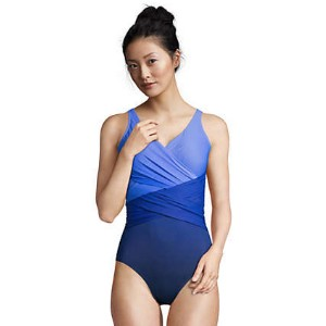 Lands' End Store Women's Slender Tummy Control - Best Swimsuit with Tummy Control: UPF 50 sun protection