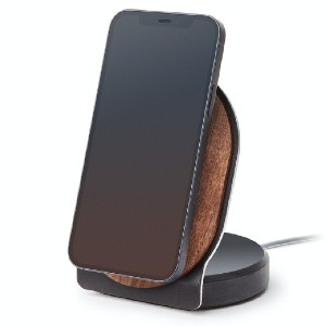 Grovemade Wood MagSafe Stand - Best Phone Stand for Desk: Holds Phones in Both Portrait and Landscape Orientation