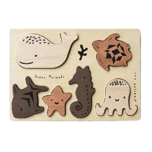 Wee Gallery Ocean Animals - Best Wooden Puzzles for Toddlers: For More Educational Fun
