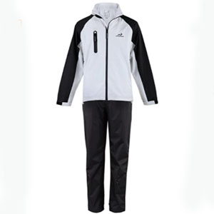 Woodworm Golf V2 Waterproof Suit Inc Jacket and Trousers  - Best Raincoats for Golf: Raincoat jacket with velcro tabs on wrists