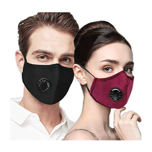 Wookit 4 Air Filter Cotton  - Best Masks for Glasses Wearers: Adjustable Nose Bridge Wire and Hook Strap