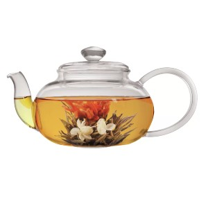 World Menagerie Noi Lea 0.7-qt. Teapot with Infuser and 2 Flowering Tea - Best Teapot with Infuser: Shock-Resistant Glass Teapot