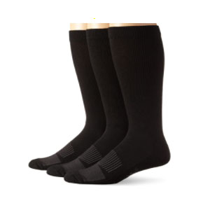 Wrangler Western Boot Socks  - Best Socks for Men: Featuring Ribbed Leg and Half-cushioned Foot with Arch Support