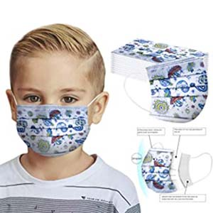 Wzhong Disposable Mask for Children - Best Masks for COVID: Galaxy motifs for boys
