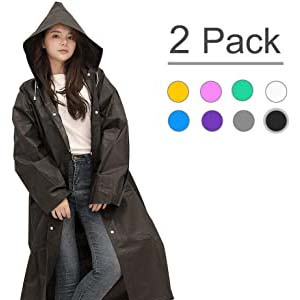 XZSUN EVA Rain Ponchos with Hoods - Best Raincoats Amsterdam: Perfectly dry from head to toes
