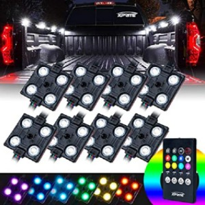 Xprite RGB LED Truck Bed Lights Kit - Best LED Truck Bed Lights: Makes night driving fun