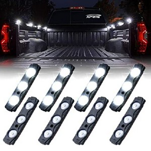 Xprite White Truck Pickup Bed Light Kit - Best LED Truck Bed Lights: Illuminate any space