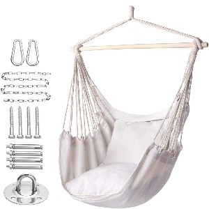 Y- STOP Hammock Chair - Best Hammocks Chair for Heavy Person: Hammock Chair with Side Pockets