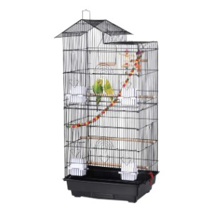 YAHEETECH 39-inch Roof Top Large Flight Parrot Bird Cage - Best Bird Cages for Budgies: Best for budget