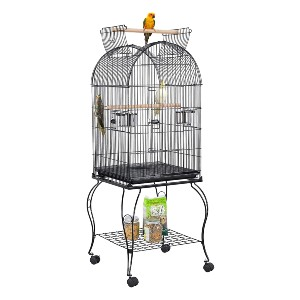 YAHEETECH 59-inch Dome Open Top Large Medium Bird Cage - Best Bird Cage for Lovebirds: Matches any decor