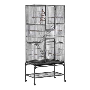 YAHEETECH 69-Inch Extra Large Wrought Iron 3 Levels Cage - Best Bird Cages for Budgies: Gorgeous and spacious