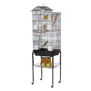 YAHEETECH Roof Top Large Flight Parakeet Parrot Bird Cage - Best Bird Cages for Parakeets: Fly around without escaping