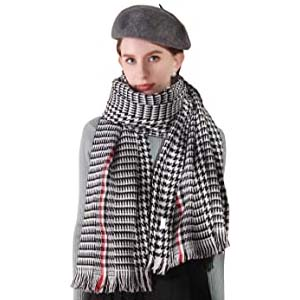 YIMIHUASHA Womens Winter Large Plaid Blanket Scarfs - Best Scarves for Winter: Scarf and blanket in one