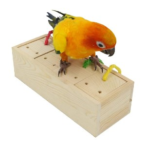YINGGE Wooden Bird Foraging Feeder Toys - Best Bird Toys for Conures: Toy or feeder? Both!