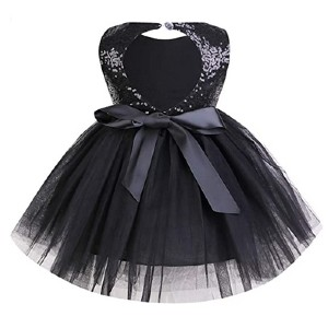 Younger Tree Toddler Baby Girls Dress  - Best Party Wear Dress for Baby Girl: Comes with an open back