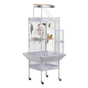 YAHEETECH 61-inch Wrought Iron Play Top Large Bird Cages - Best Bird Cage for Cockatiel: Comes with toy!