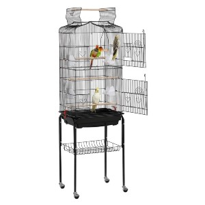 YAHEETECH 64-inch Open Top Standing Medium Small Bird Cage - Best Bird Cage for Canary: Less than a hundred dollars