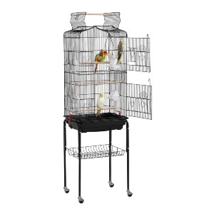 YAHEETECH 64-inch Open Top Standing Medium Small Bird Cage - Best Bird Cages for Conures: Best for budget