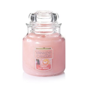 Yanke Candle Fresh Cut Roses - Best Rose Scented Candles: Fresh Rose with Natural-Fiber Wick