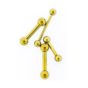 RebelBod Yellow Internally Threaded Titanium Barbell - Best Jewelry for New Nose Piercing: Find the perfect fit