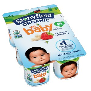 Stonyfield Organic YoBaby Banana / Strawberry - Best Organic Baby Foods: Number One Pediatrician Recommended