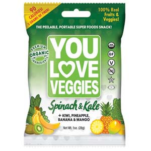 You Love Veggies Spinach and Kale Leather - Best Healthy Snack: Healthy, tasty, and easy to carry