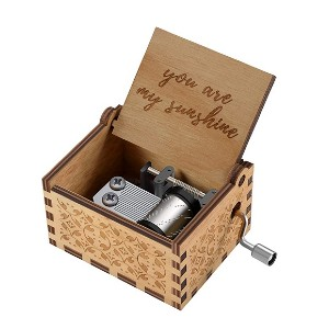 Huntmic You are My Sunshine Wood Music Boxes - Best Music Box for Toddlers: Cute and tiny