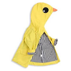 Younger Tree Toddler Baby Boy Girl Duck Raincoat - Best Raincoats for Toddlers: Cute duck hood